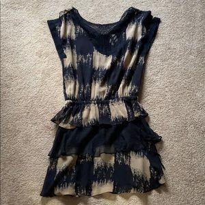 Black and cream mini dress